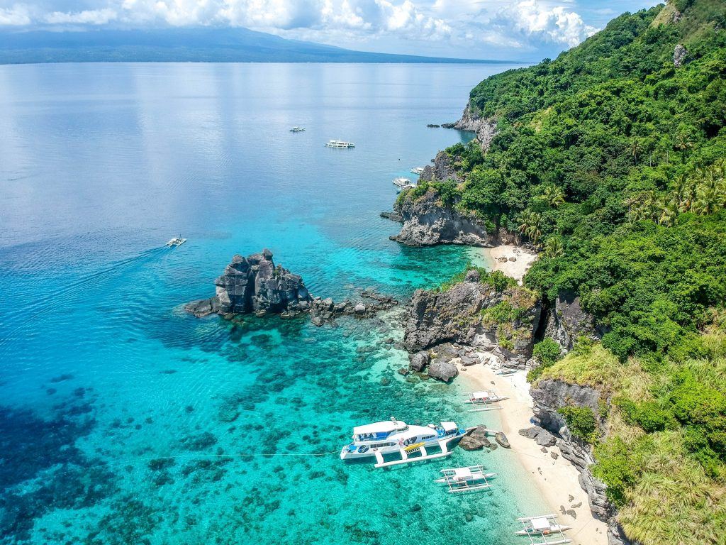 Overview of Apo Island in the Philippines