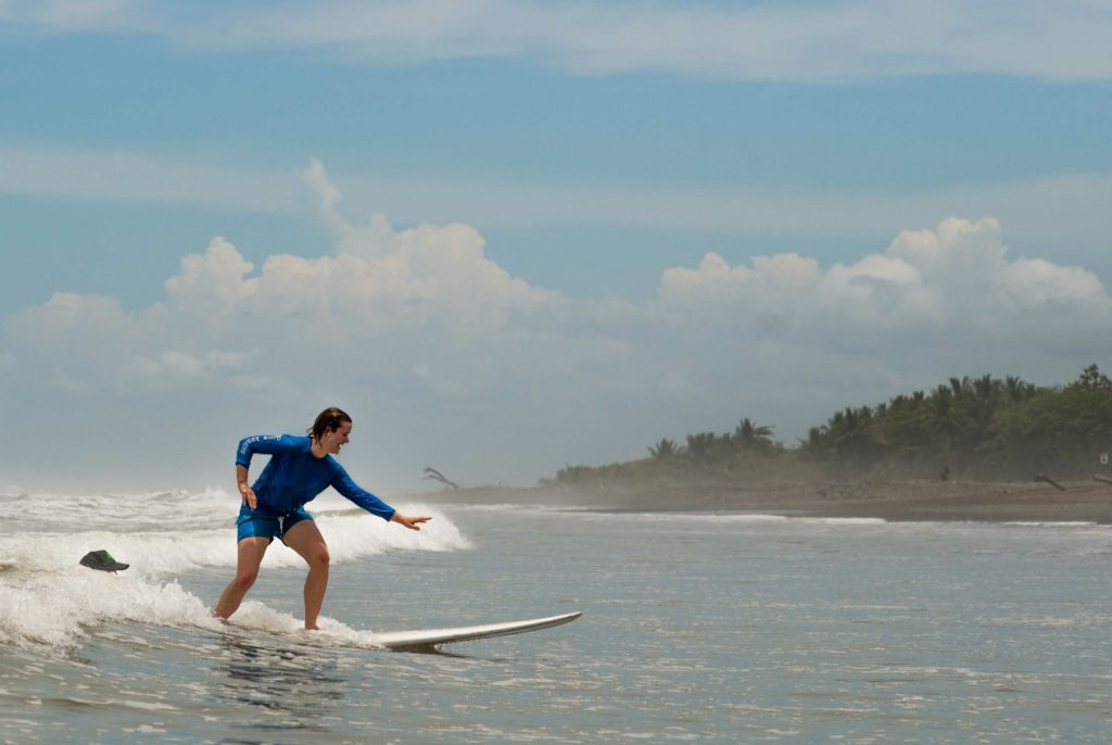 Surfing in Dominical Costa Rica